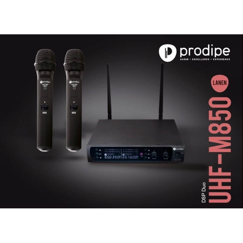 UHF M850 DSP Duo Prodipe Microphone sans fil Wireless