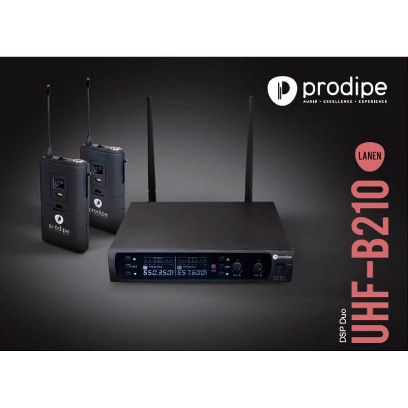 UHF B210 DSP Duo Prodipe Wireless pour micro série 21 instruments, lavalier et micro serre-tête