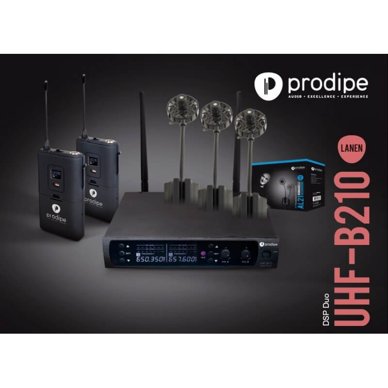 UHF B210 DSP Duo V2 AL21 Prodipe pack mit mikrophon series 21 AL21