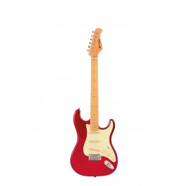 ST 80 MA Guitare Electrique Candy Red Prodipe Guitars JMFST80MACAR