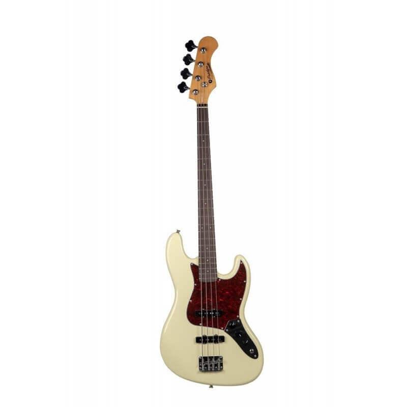 JB80RAVW Vintage White Bass Guitar Prodipe Guitars JMFJB80RAVW
