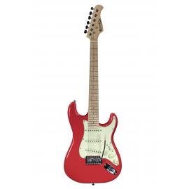 ST Junior FR 1/2 Fiesta Red E-Gitarre mit Gitarrenabdeckung 10 mm Prodipe Guitars JMFSTJUNIORFR