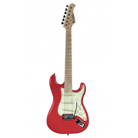 ST Junior FR 1/2 Fiesta Red electric guitar with 10 mm cover Prodipe Guitars JMFSTJUNIORFR