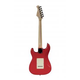 ST Junior FR 1/2 Fiesta Red E-Gitarre mit Gitarrenabdeckung 10 mm Prodipe Guitars Rear view