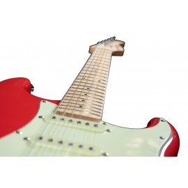ST Junior FR 1/2 Fiesta Red E-Gitarre mit Gitarrenabdeckung 10 mm Prodipe Guitars View
