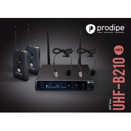 UHF B210 DSP Lavalier Duo Prodipe Wireless UHF