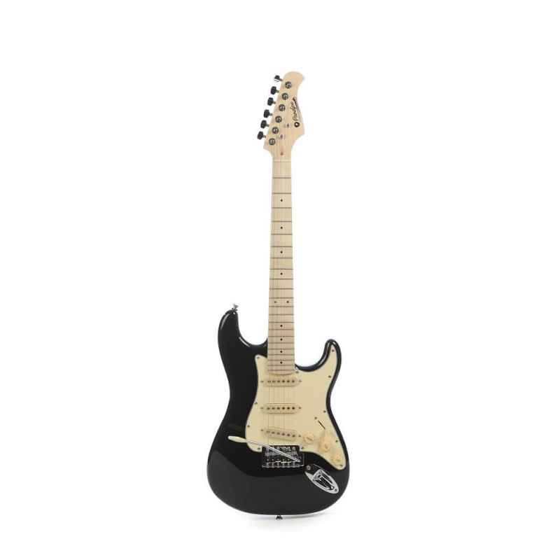ST Junior BK 1/2 Black electric guitar with 10 mm cover Prodipe Guitars JMFSTJUNIORBK