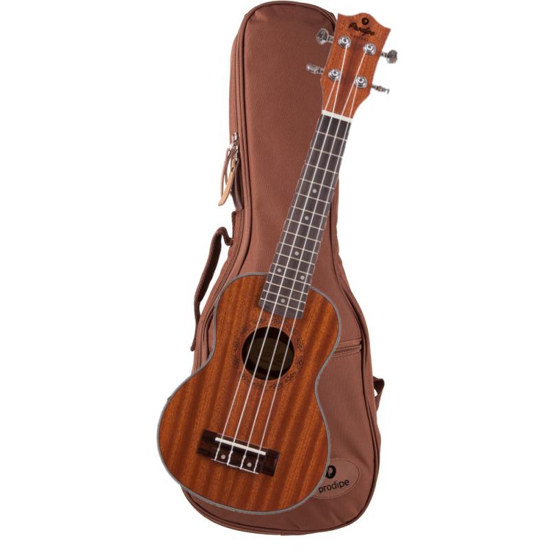 BS1 avec housse Ukulele Soprano Acajou Sapele 21'' Prodipe guitars JMFBS1