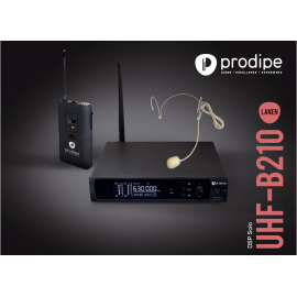 UHF B210 DSP V2 Headset Solo Prodipe Wireless UHF