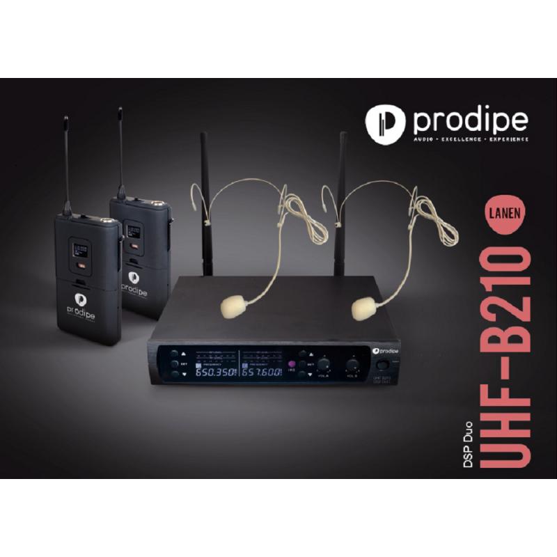 UHF B210 DSP Duo Headset Prodipe sans fil Wireless
