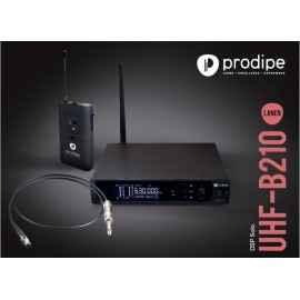 Pack UHF GB210 Lanen Kabelloses UHF-System für E-Gitarren und Bassgitarren Prodipe