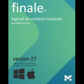 Mise a jour Finale 27 FR Make Music Editeur de partition Midi Audio
