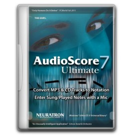 Neuratron AudioScore Ultimate 7 convertir un audio en partition pour Sibelius, Finale