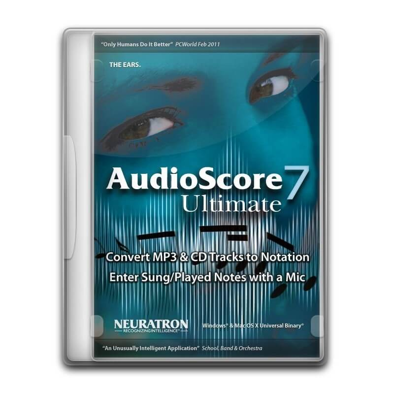 Neuratron AudioScore Ultimate 7 Transcribe audio in Score into Sibelius or Finale