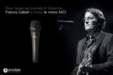 Francis Cabrel à choisi le Micro MC1 pour sa tournée Extremis